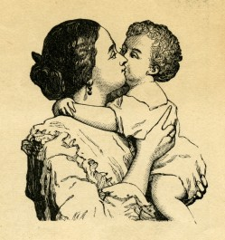 hd-victorian-mother-and-baby-free-clip-art-illustration